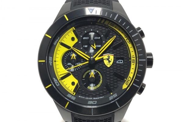 Ferrari(フェラーリ) 腕時計美品  SF.25.1.34.0263 メンズ 黒×イエロー