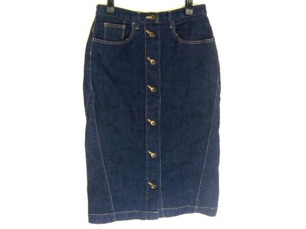 バルコニーアンドベッド スカート サイズ38 M レディース ダークネイビー デニム
