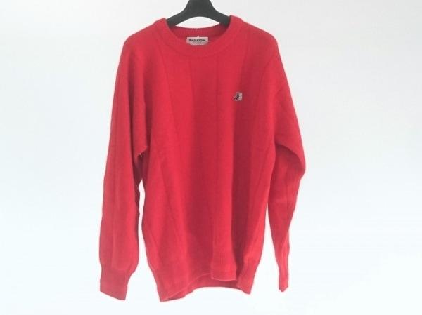 ブラック&ホワイト 長袖セーター サイズL