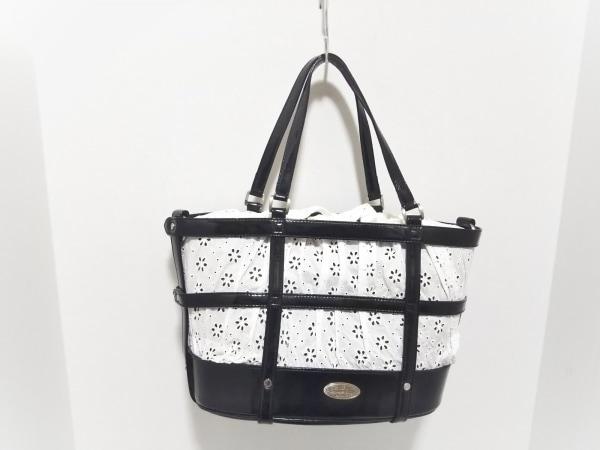 バーディ ハンドバッグ美品  白×黒