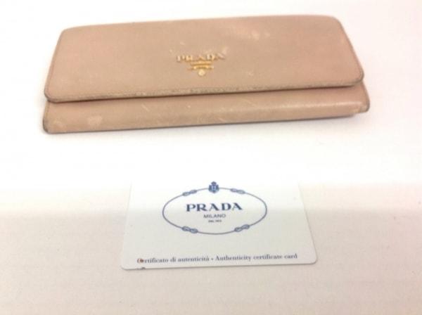 プラダ 長財布 - 1M1132 ベージュ レザー