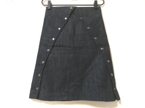 ジェイダブリューアンダーソン スカート サイズ32 XS レディース美品  ネイビー