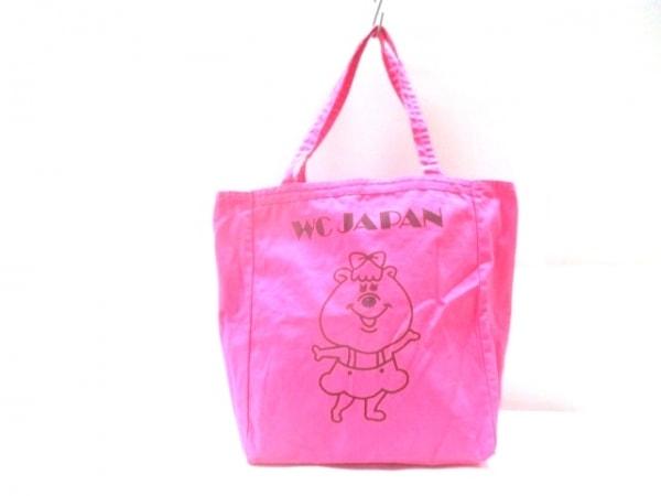 WC(ダブルシー) トートバッグ ピンク キャンバス