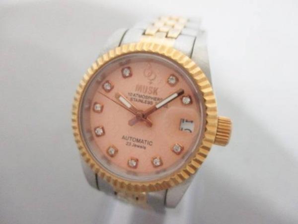 MUSK(ムスク) 腕時計美品  MA-1174 レディース オレンジ