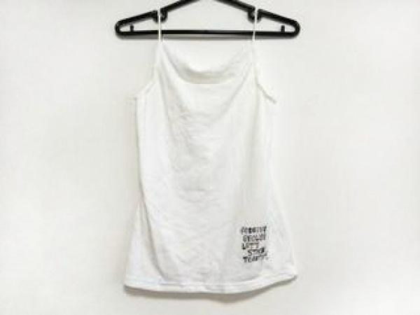 ジェフリーフルビマーリ キャミソール サイズL レディース美品  白×マルチ