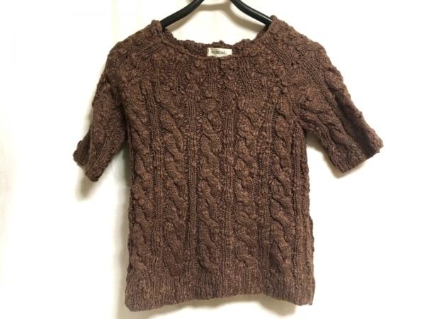 INGEBORG(インゲボルグ) 半袖セーター サイズS レディース ダークブラウン