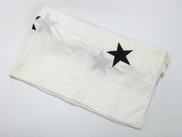 RIKA(リカ) ストール(ショール) 白×黒 スター コットン