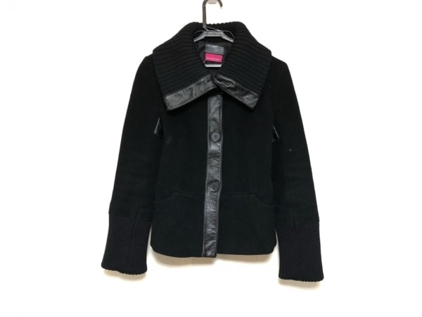 マッカージュ コート レディース美品  黒