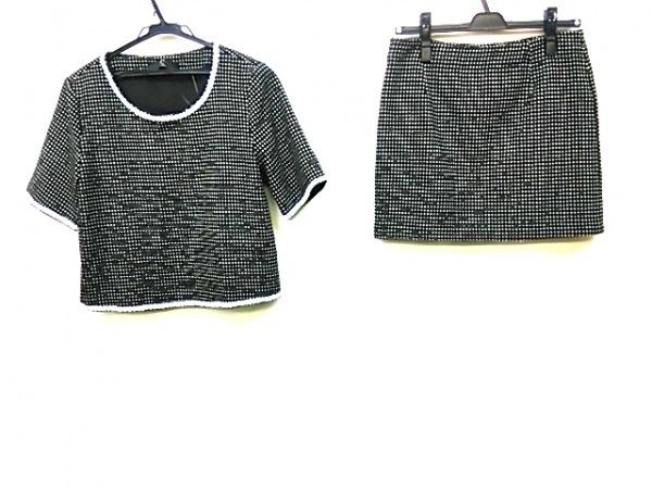 ココンジャパン スカートセットアップ サイズM レディース 黒×白 ドット柄/ビーズ