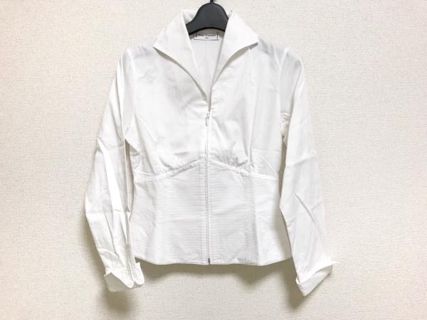 アンフォンティーヌ 長袖シャツブラウス サイズ1 S レディース美品  白 ジップアップ