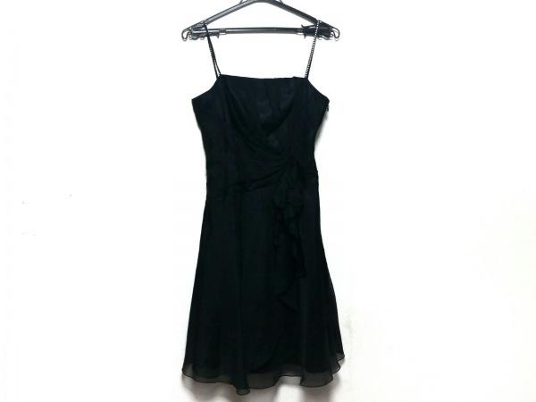 ジュネビビアン ワンピース サイズ9 M レディース美品  黒 プリーツ/フリル/ギャザー