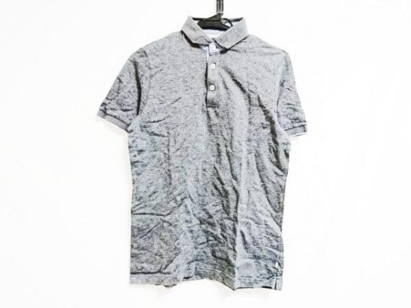 eleventy(イレブンティ) 半袖ポロシャツ サイズS レディース グレー×ライトブルー