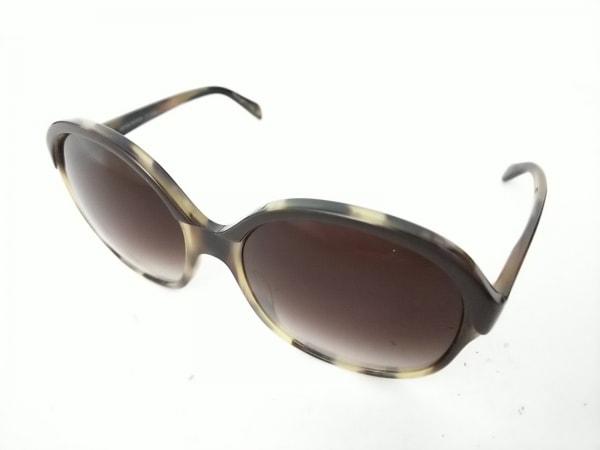 OLIVER PEOPLES(オリバーピープルズ) サングラス casandra 黒×ベージュ プラスチック