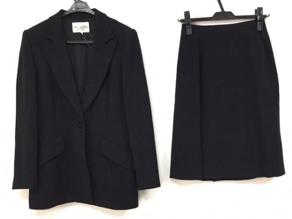 ミスアシダ スカートスーツ サイズ9 M 黒