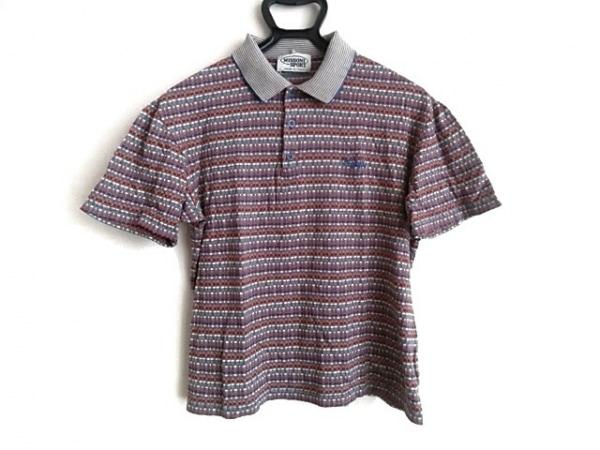 ミッソーニスポーツ 半袖ポロシャツ サイズS メンズ レッド×アイボリー×マルチ