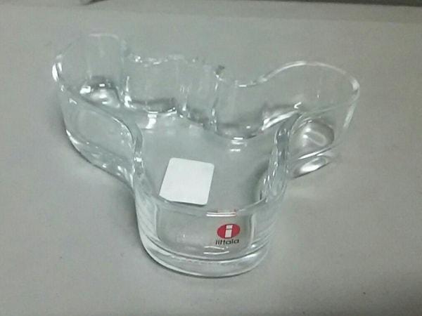 iittala(イッタラ) 小物新品同様  クリア キャンドルホルダー ガラス