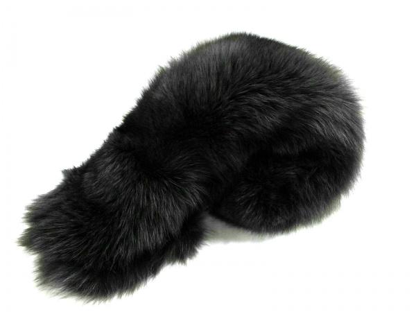SAGA FOX(サガフォックス) マフラー美品  ダークグレー ティペット フォックス