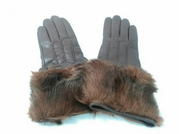 デンツ 手袋 レディース美品  ブラウン
