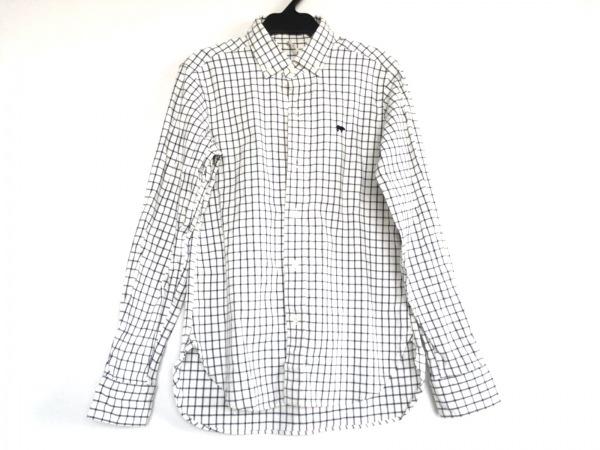 SCYE(サイ) 長袖シャツ サイズ38 M メンズ 白×グレー チェック柄