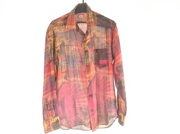 FICCE(フィッチェ) 長袖シャツ サイズM メンズ美品  レッド×オレンジ×マルチ