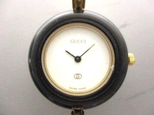 グッチ 腕時計 ベゼルウォッチ 1100-L 白