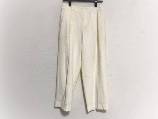 グレースクラス パンツ サイズ36 S レディース アイボリー センタープレス