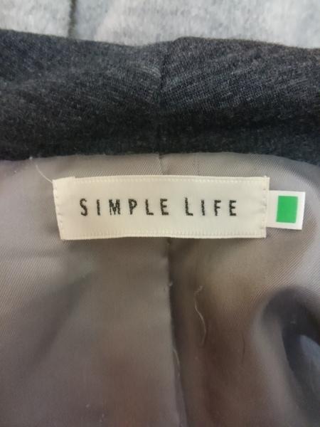 SIMPLE LIFE(シンプルライフ) コート レディース ライトグレー×アイボリー
