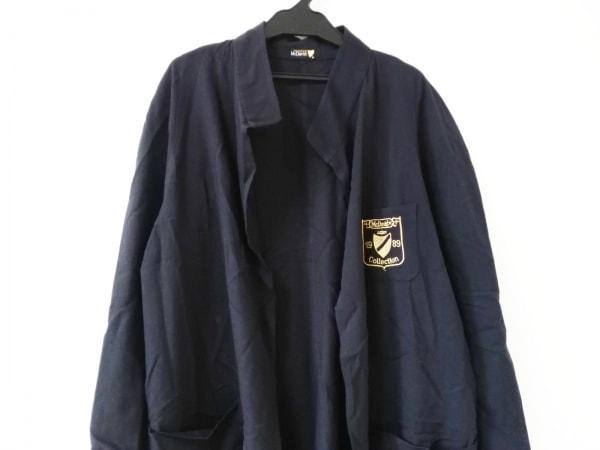 マックデイビッド コート サイズ40 M レディース美品  ダークネイビー 刺繍/春・秋物