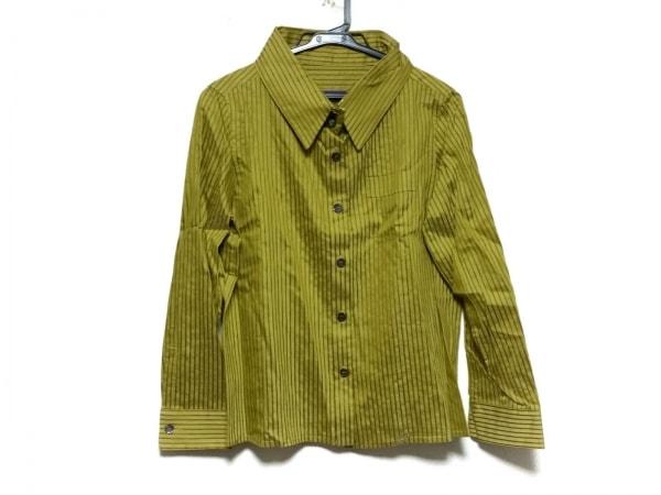 ロメオジリ 長袖シャツブラウス サイズ9T レディース美品  イエロー×ブラウン