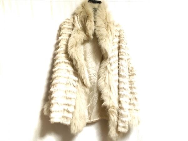 リツコシラハマ コート サイズ1 S レディース アイボリー ファー/冬物