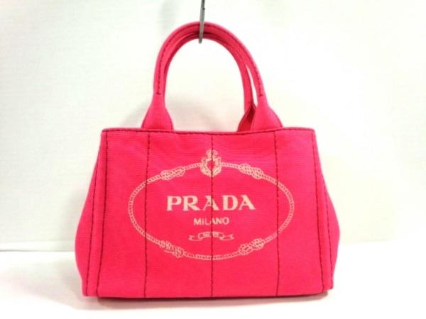 プラダ トートバッグ CANAPA 1BG439 ピンク
