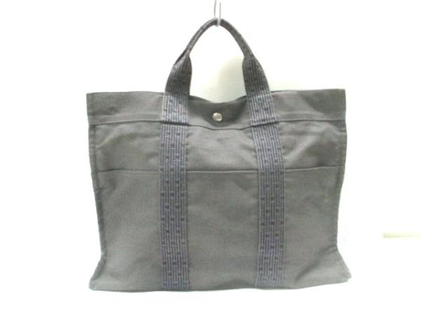 エルメス ハンドバッグ グレー 旧型金具
