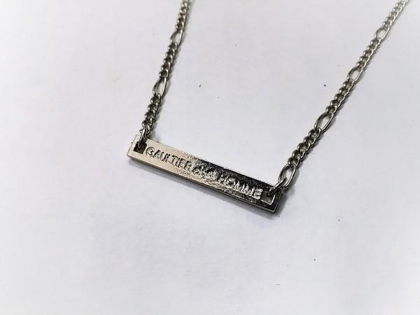 GAULTIERHOMMEobjet(ゴルチエオム オブジェ) ネックレス美品  金属素材 シルバー