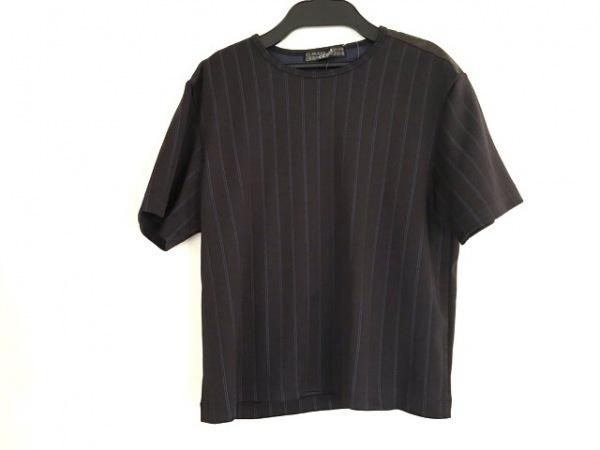 ゴルチエオム オブジェ 半袖カットソー サイズF メンズ 黒×ブルー ストライプ