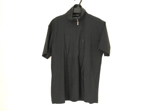 ゴルチエオム オブジェ 半袖シャツ サイズ46 XL メンズ 黒 ジップアップ