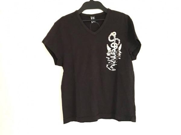 ジーンズポールゴルチエ 半袖Tシャツ サイズM レディース 黒×シルバー
