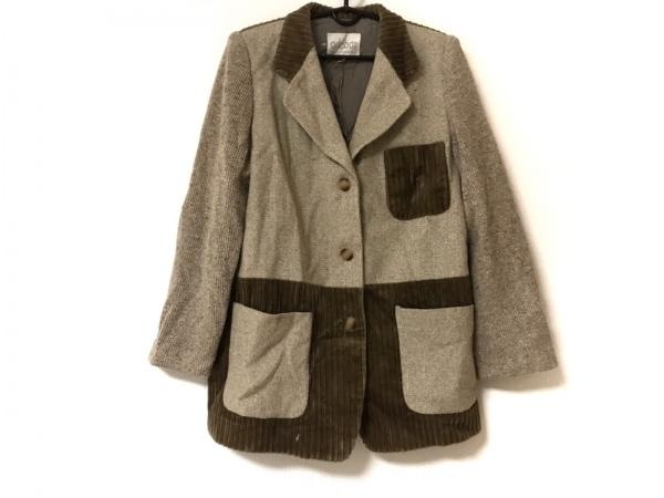 Adabat(アダバット) ジャケット サイズ2 M レディース美品  ベージュ×ダークブラウン