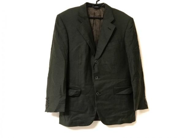 ErmenegildoZegna(ゼニア) ジャケット サイズ48 XL メンズ  グリーン ネーム刺繍