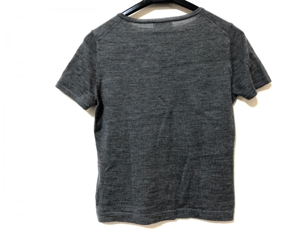 HARRODS(ハロッズ) 半袖セーター レディース グレー フェイクパール