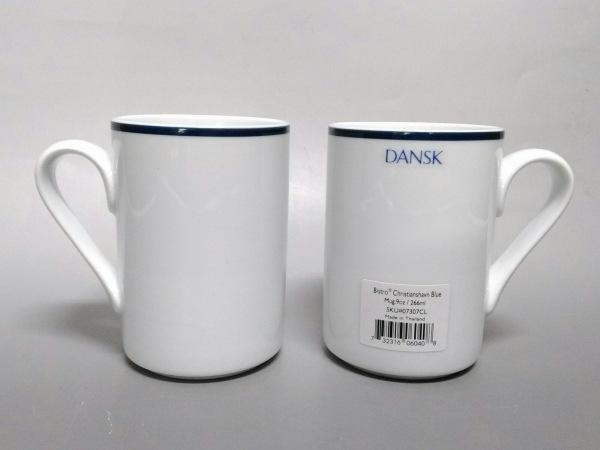 DANSK(ダンスク) マグカップ新品同様  白×ネイビー マグカップ×2 陶器