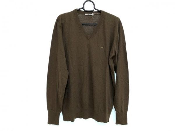 GAS(ガス) 長袖セーター メンズ カーキ