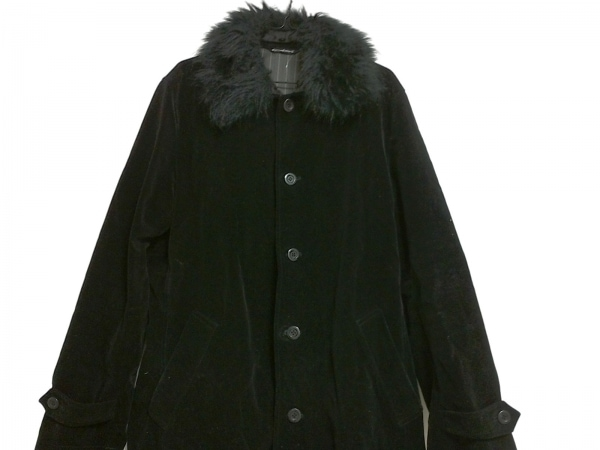 カスタムカルチャー コート サイズ48 XL 黒