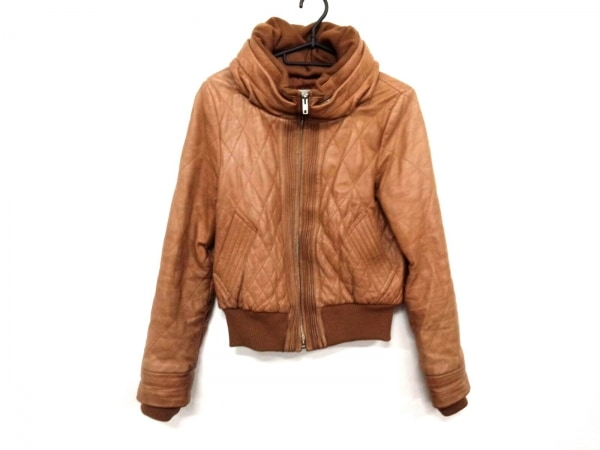 アンシャントマン ライダースジャケット サイズ38 M レディース ライトブラウン