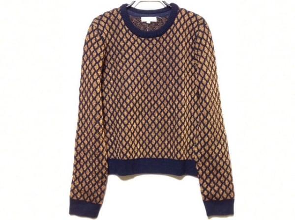 オープニングセレモニー 長袖セーター サイズS レディース ネイビー×ゴールド