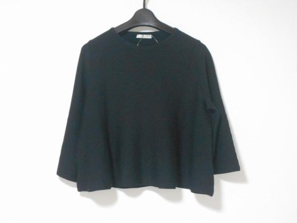 アドーア 七分袖カットソー サイズ38 M 黒