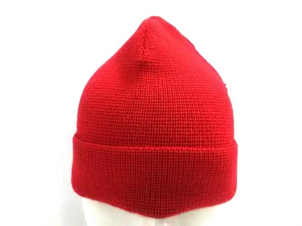 AMIalexandremattiussi(アミアレクサンドルマテュッシ) ニット帽 レッド ウール