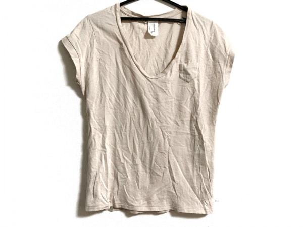 KASHWERE(カシウエア) 半袖Tシャツ サイズM レディース ベージュ Uネック/胸ポケット