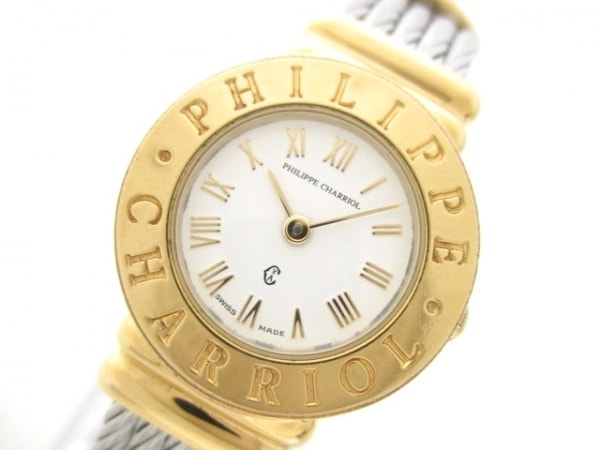 フィリップシャリオール 腕時計美品  白