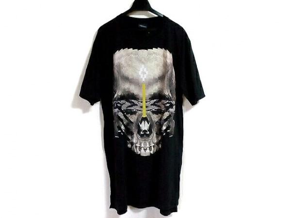 MARCELO BURLON(マルセロバーロン) 半袖Tシャツ サイズM メンズ美品  黒×ベージュ