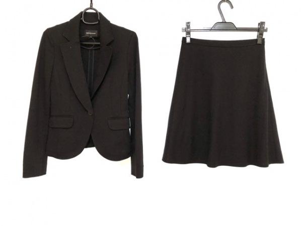 QUEENS COURT(クイーンズコート) スカートスーツ サイズ1 S レディース 黒